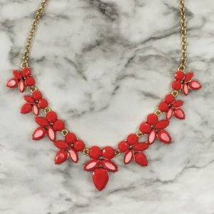🍓NWT J.Crew Red Statement Necklace